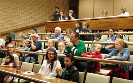 Children Learning about the stars at the University of Dallas